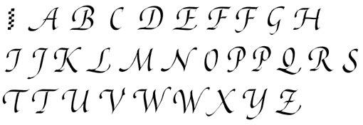 Calligraphie Lettre calligraphie - la chancelière
